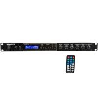 Amplificatore 2x100 watt con lettore MP3, Radio FM e Bluetooth