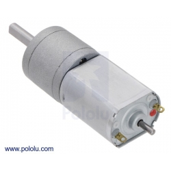391:1 Metal Gearmotor 20Dx46L mm 12V CB with Extended Motor Shaf