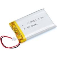 Batteria ai polimeri di litio 3,7 V 1000 mA connettore 2 mm