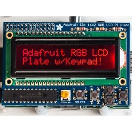 Adafruit RGB Negativo 16x2 LCD+Keypad Kit for Raspberry Pi
