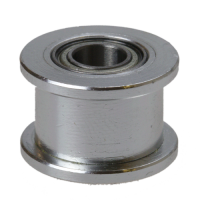 GT2 black pulley (driven) with bearing (no teeth / 6 mm belt / 5