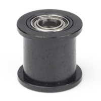 GT2 black pulley (driven) with bearing (no teeth / 9 mm belt / 5
