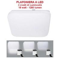 Plafoniera a LED  18 W - bianco neutro