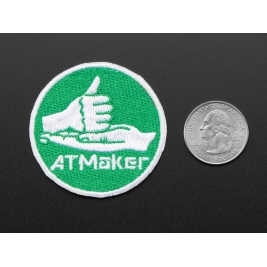 ATMakers Skill Badge, iron-on patch