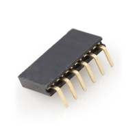"Header - 6-pin Female (0.1"", Right Angle)"