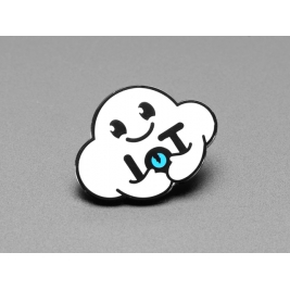 Nimbus the Friendly Cloud Entity - Limited Edition Enamel Pin