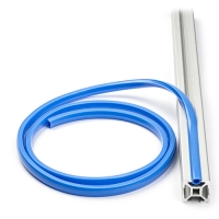 Slot cover 8mm for 30x32 Aluminum extrusions - Blue ( per meter
