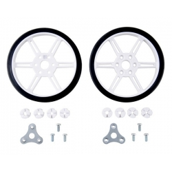 Pololu Multi-Hub Wheel w/Inserts for 3mm and 4mm Shafts - 80×10