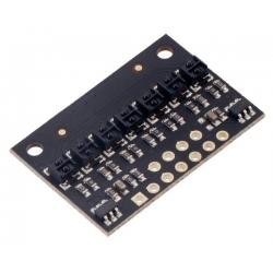 QTRX-HD-07A Reflectance Sensor Array: 7-Channel, 4mm Pitch, Anal