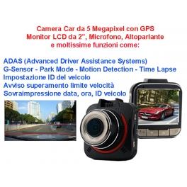 Camera Car 5 Megapixel con Monitor e GPS
