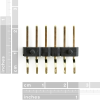 """Header - 6-pin Male (SMD, 0.1"""", Right Angle)"""
