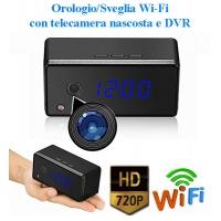 Orologio/Sveglia WIFI con telecamera nascosta e DVR