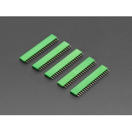 20-pin 0.1 (inches) Female Header - Green - 5 pack
