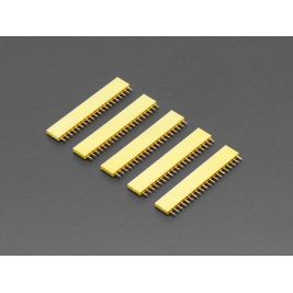 20-pin 0.1 (inches) Female Header - Yellow - 5 pack