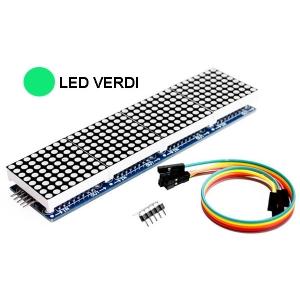 4 Display a matrice 8x8 con MAX7219 - LED Verdi