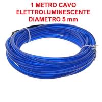 Cavo elettroluminescente Blu - 1 metro / 5 mm