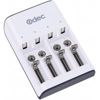 Odec Caricabatterie per Pile Ricaricabili N AAAA AAA AA Ni-MH/Ni