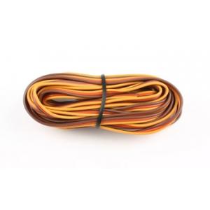 Cavo servi piatto PVC 22awg-0,35mmq (marrone/rosso/arancio), 5 m