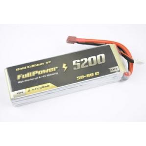 Batteria Lipo 4S 5200mAh 50C Gold V2 - DEANS