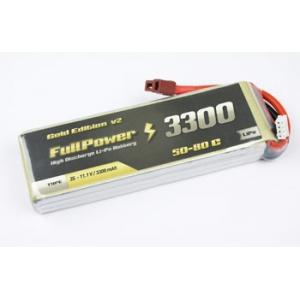 Batteria Lipo 2S 3300mAh 50C Gold V2 - DEANS
