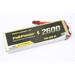 Batteria Lipo 2S 2600mAh 50C Gold V2 - DEANS