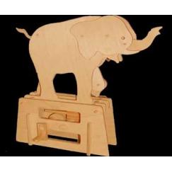 Automata Flatbis Elephant in legno piatto da montare