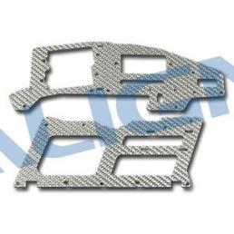 H25085 T Rex 250 Fiancata Fibra silver 1,2mm