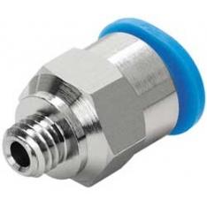 Raccordo filettato maschio M5 per tubo da 3 mm