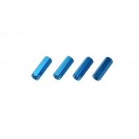 Colonnine in alluminio 10mm Blu m3 (5 pezzi)