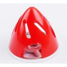 Ogiva nylon/alluminio 63 mm rossa con raffreddamento