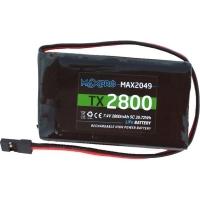 Batteria Li-Po 5C 7,4V 2800mAh per Trasmettitori Futaba