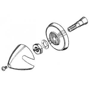 Ogiva alluminio 30 mm asse Ø 3