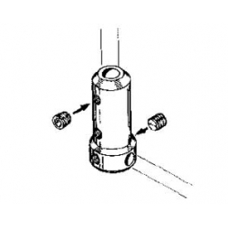 Angolo per gambe carrelli Ø 4 mm 1 pz