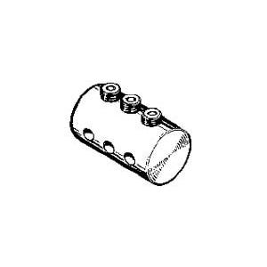 Connettore triplo per tiranteria da 3 mm