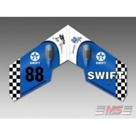 Swift II - Retro Blue EPP + Motore, servi, regolatore