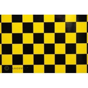 OraFUN3 giallo/nero scacchi 25x25mm, 2 mt.