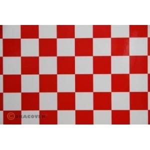 OraFUN3 scacchi 25x25 rosso bianco, 2 mt.