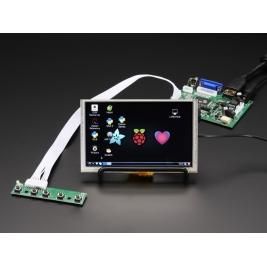 HDMI 4 Pi 5 Display (w/Touch) 800x480 - HDMI/VGA/NTSC/PAL