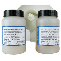 Gomma siliconica ADDV-25, 500 g (totale dei due componenti)