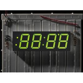 Green 7-segment clock display - 1.2 digit height