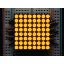 Small 1.2 8x8 Ultra Bright Yellow-Orange LED Matrix