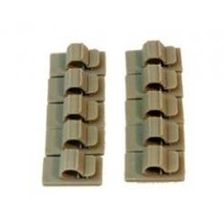 Fermacavi adesivi 6mm per cavi e tubi 10pz