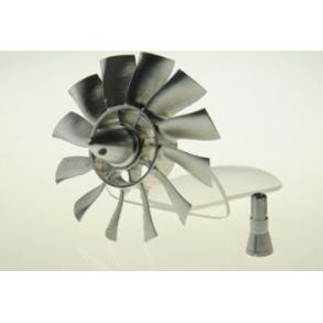 Girante ventola metallo 70mm - 12 pale