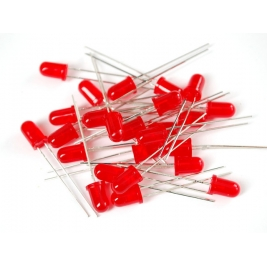 Diffused Red 5mm LED (25 pack)