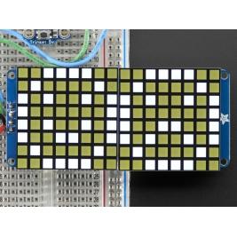 16x8 1.2 LED Matrix + Backpack - Ultra Bright Square White LEDs