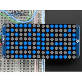 16x8 1.2 LED Matrix + Backpack - Ultra Bright Round Blue LEDs