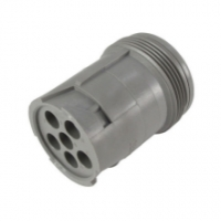 HD10 Series Housing for Male Terminals - 6 Cavities, In-Line, Th