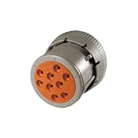 HD10 Series Housing for Female Terminals - 9 Cavities, Threaded