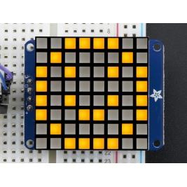 Small 1.2 8x8 Ultra Bright Square Yellow LED Matrix + Backpack