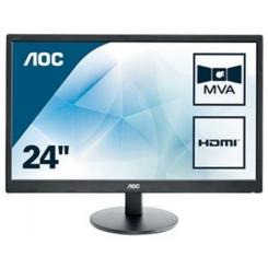 """MON 23,6""""MVA MM VGA 2XHDMI VESA 5MS AOC M2470SWH 1000:1 3 ANNI G"""